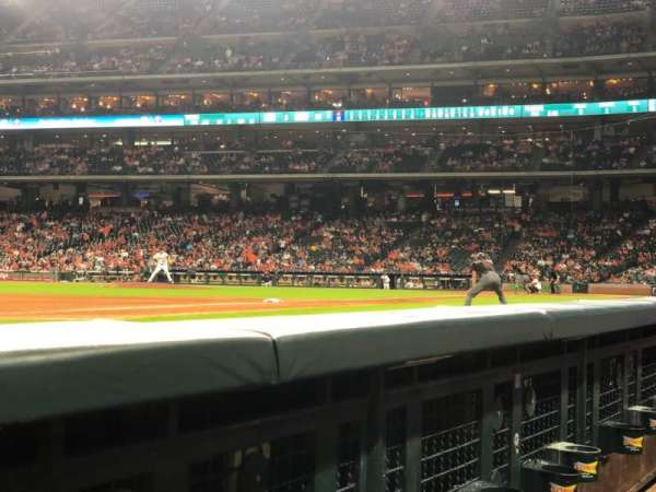 Minute Maid Park, section: 110, row: 1, seat: 8