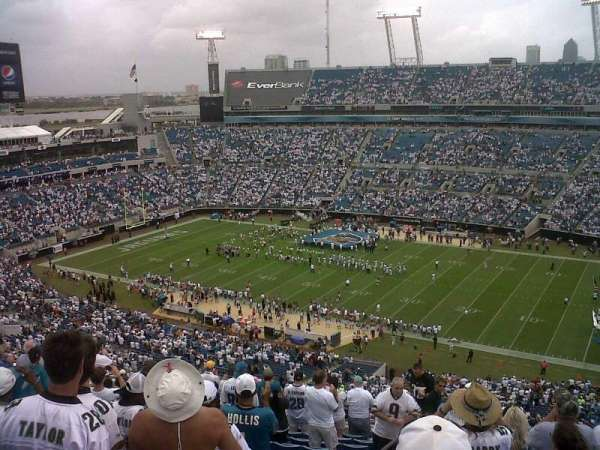 TIAA Bank Field, section: 432, row: T, seat: 26