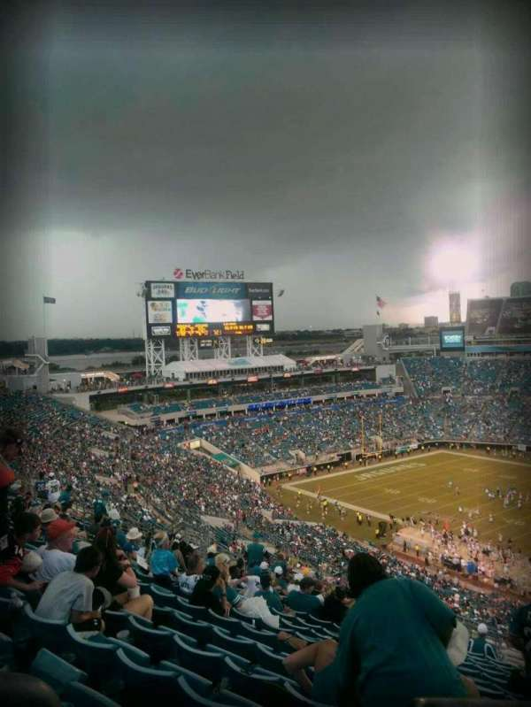 TIAA Bank Field, section: 432, row: t, seat: 27