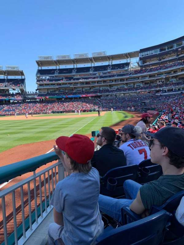Nationals Park, section: 108, row: K, seat: 8