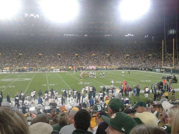 Lambeau Field, section: 117, row: 22, seat: 4