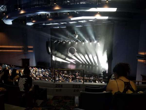 Rosemont Theatre, section: 203, row: E, seat: 1