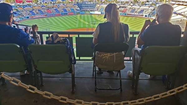 Dodger Stadium, section: 1RS, row: W, seat: 1-4