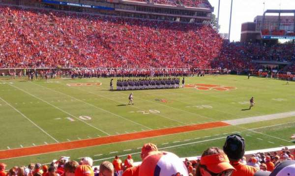 Memorial Stadium, Clemson, section: L, row: W, seat: 4
