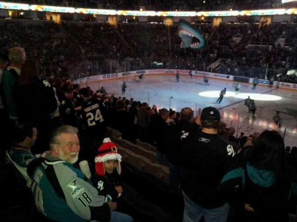 SAP Center, section: 115, row: 17, seat: 3