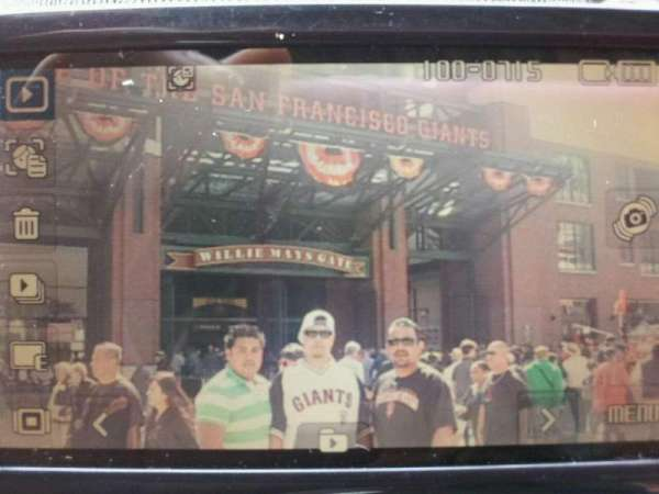 Oracle Park, section: VR334, row: 11, seat: 19