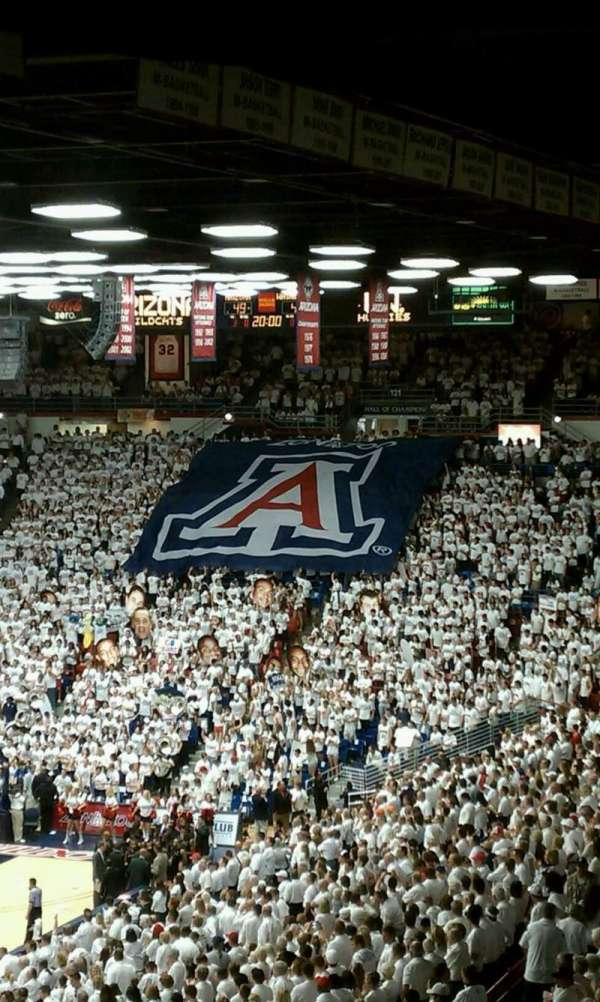McKale Center, section: UP 104, row: 33, seat: 5