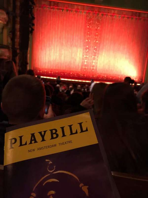 New Amsterdam Theatre, section: Orchestra C, row: U, seat: 115