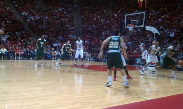 Viejas Arena, section: Home Bench