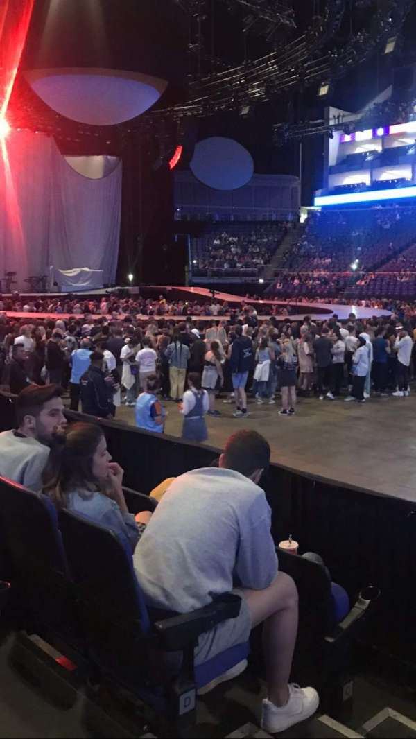 The O2 Arena, section: 103, row: F, seat: 90