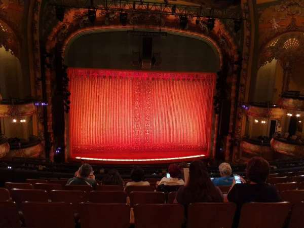 New Amsterdam Theatre, section: Mezzanine C, row: HH, seat: 113