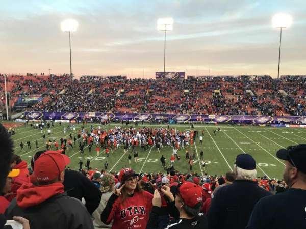 Sam Boyd Stadium, section: 128, row: 30, seat: 1