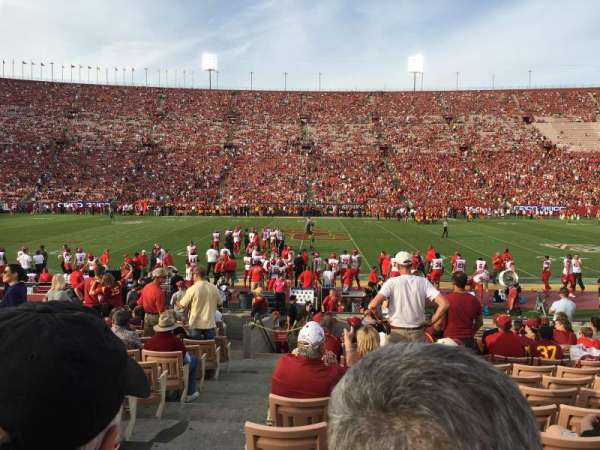 Los Angeles Memorial Coliseum, section: 106B, row: 17, seat: 15