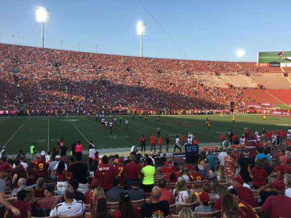 Los Angeles Memorial Coliseum, section: 8L, row: 17, seat: 17