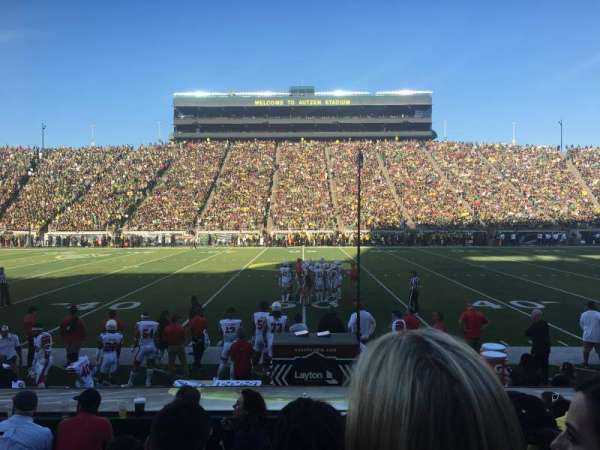 Autzen Stadium, section: 31, row: 8, seat: 13