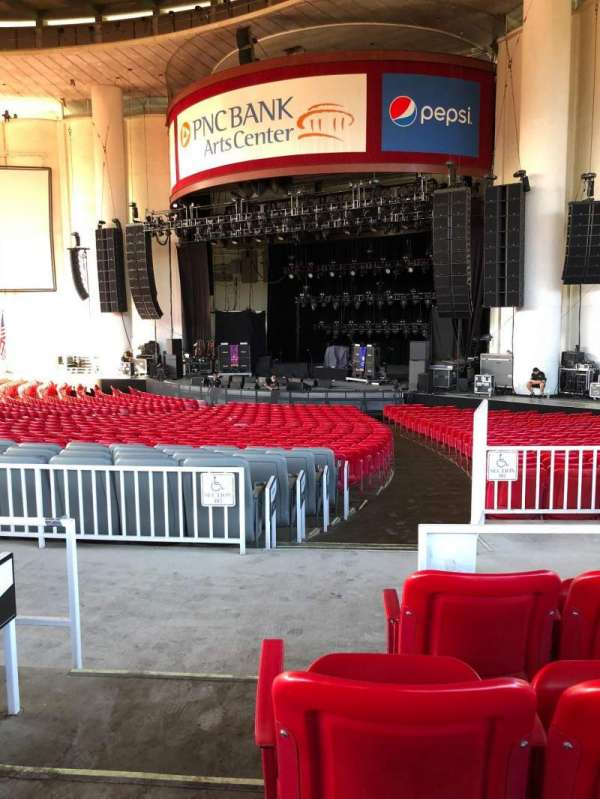 PNC Bank Arts Center, section: 201, row: D, seat: 4