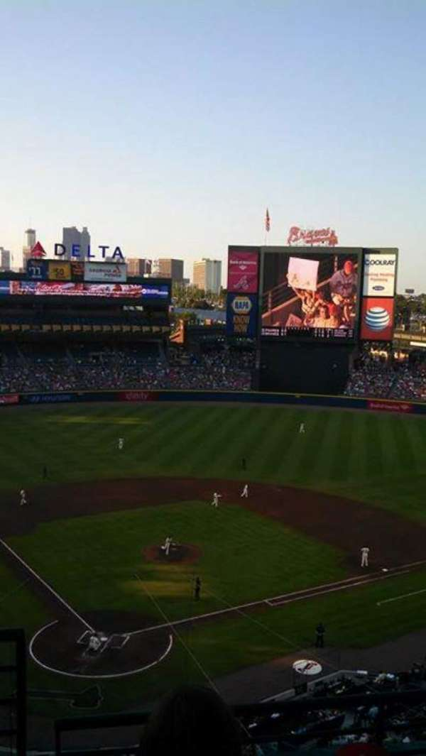 Turner Field, section: 403R, row: 3
