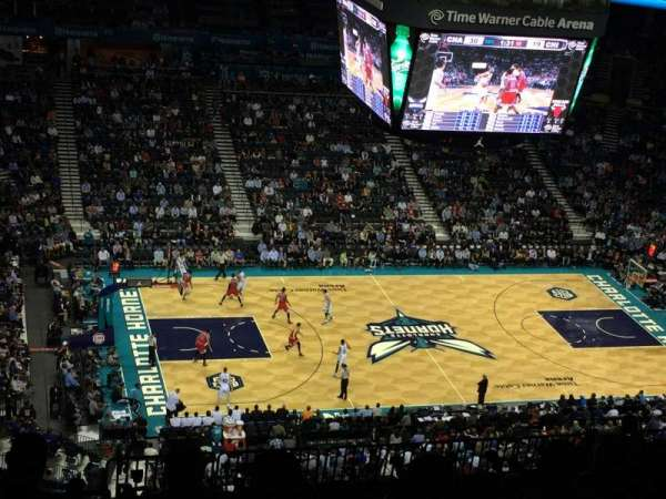 Spectrum Center, section: 210, row: R, seat: 1