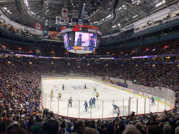Rogers Arena, section: 102, row: 21