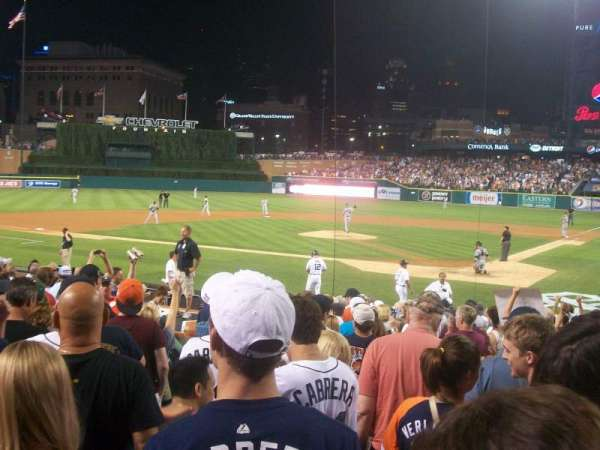 Comerica Park, section: 130, row: 20, seat: 5