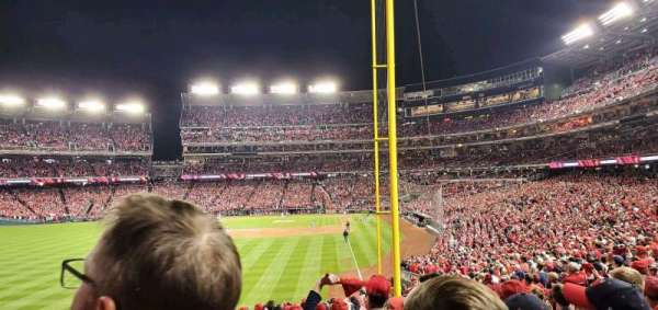 Nationals Park, section: 106, row: AA, seat: 17