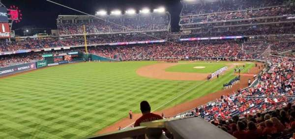 Nationals Park, section: 201, row: P, seat: 1