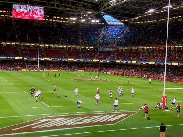 Principality Stadium, section: N4, row: 2, seat: 4