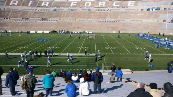 Falcon Stadium, section: M21, row: AA, seat: 10