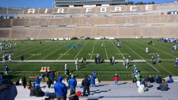 Falcon Stadium, section: M21, row: AA, seat: 33