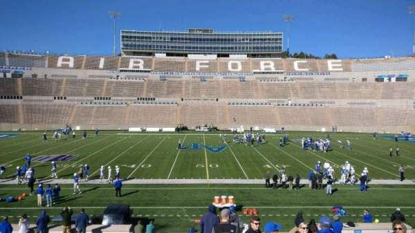 Falcon Stadium, section: M22, row: AA, seat: 22