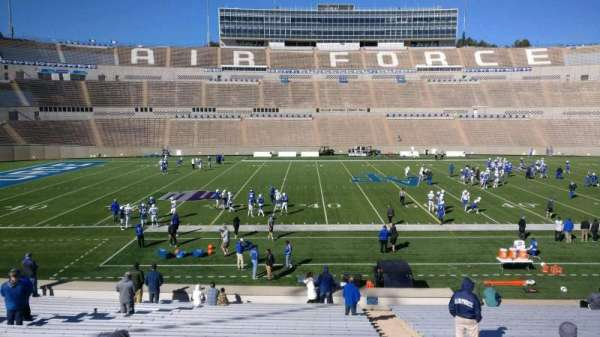 Falcon Stadium, section: M22, row: AA, seat: 3