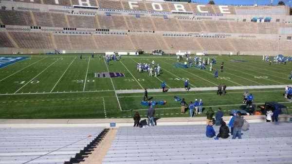 Falcon Stadium, section: L23, row: AA, seat: 36
