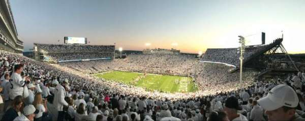 Beaver Stadium, section: EHU, row: 85, seat: 17