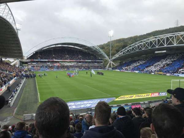 John Smith's Stadium, section: The Chadwick Lawrence stand, row: T, seat: 142