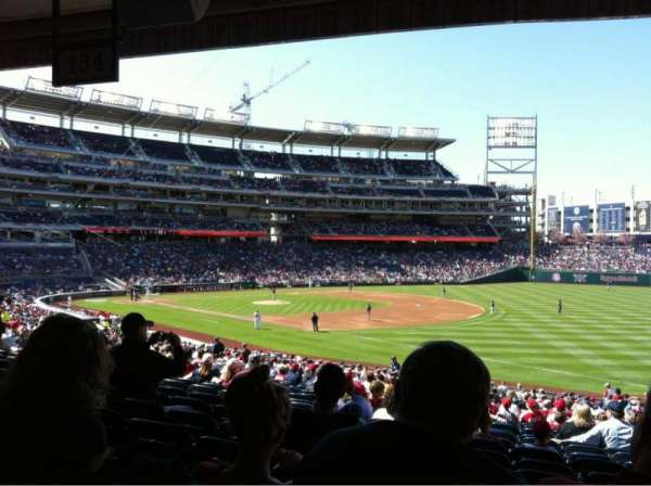 Nationals Park, section: 134, row: SS, seat: 6