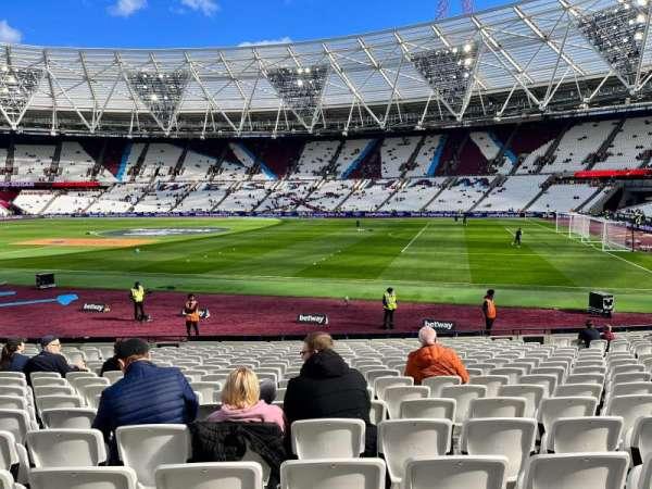 London Stadium, section: 111, row: 18, seat: 232