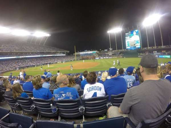 Kauffman Stadium, section: 138, row: l, seat: 6