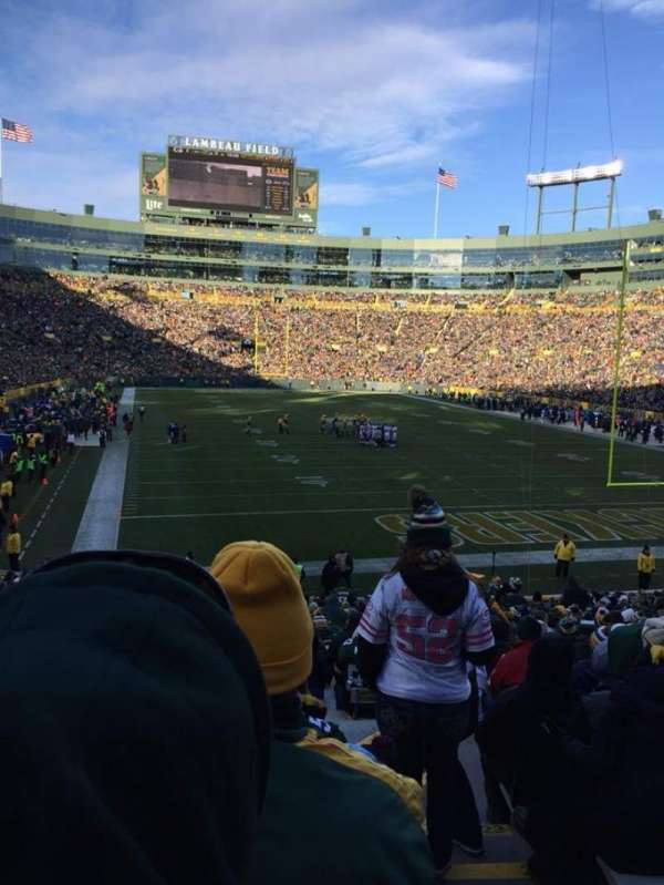 Lambeau Field, section: 136, row: 29, seat: 13