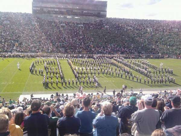 Notre Dame Stadium, section: 11, row: 34, seat: 8