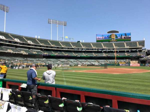 Oakland Alameda Coliseum, section: 110, row: 1, seat: 1