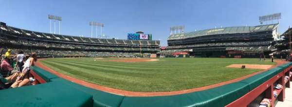 Oakland Alameda Coliseum, section: Field Box 109, row: 1, seat: 25