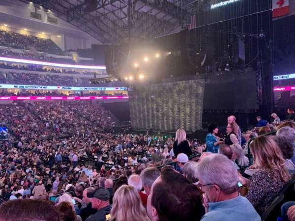 American Airlines Center, section: 108, row: T, seat: 9