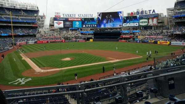 Yankee Stadium, section: 218B, row: 3, seat: 6