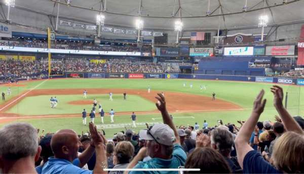 Tropicana Field, section: 112, row: HH, seat: 8