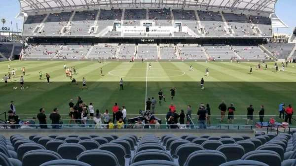 Banc of California Stadium, section: field club C, row: Q, seat: 10