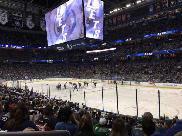 Amalie Arena, section: 128, row: R, seat: 11