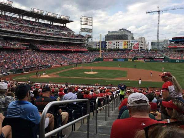 Nationals Park, section: 130, row: RR, seat: 18