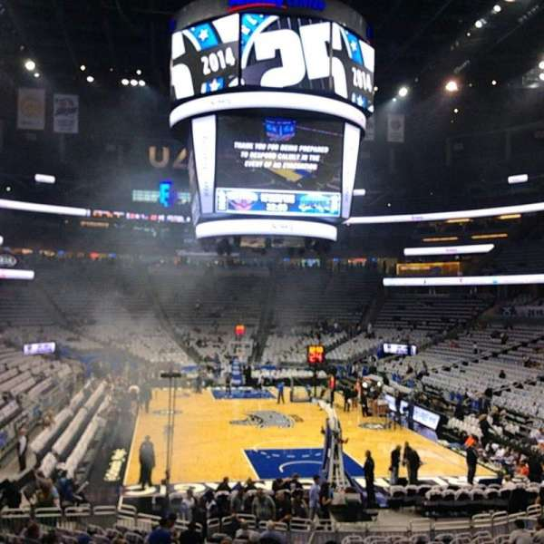 Amway Center, section: 110, row: 18, seat: 23