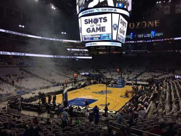 Amway Center, section: 109, row: 18, seat: 8