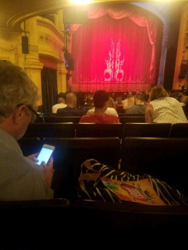 Hudson Theatre, section: orchestra, row: R, seat: 11